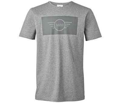 Мужская футболка MINI Men's T-Shirt, Wing Logo Cut-Out, Grey