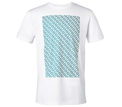 Мужская футболка Mini Men's T-Shirt Signet, White/Aqua