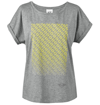 Женская футболка Mini T-Shirt Women's Signet, Grey/Lemon