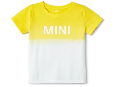 Детская футболка Mini T-Shirt Kids Dip-Dye, White/Lemon