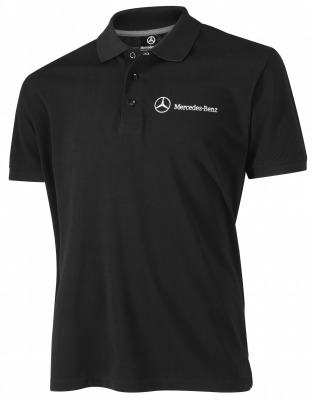 Мужская рубашка поло Mercedes-Benz Men's Polo Shirt, Eventwear, Black