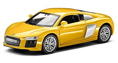 Инерционный автомобиль Audi R8 V10 Pullback, Scale 1:38, Vegas Yellow