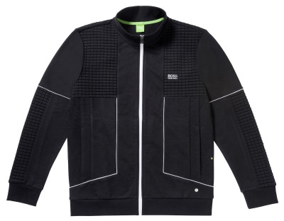 Мужская толстовка Mercedes-Benz Men's Sweat Jacket, Boss Green, Black/White