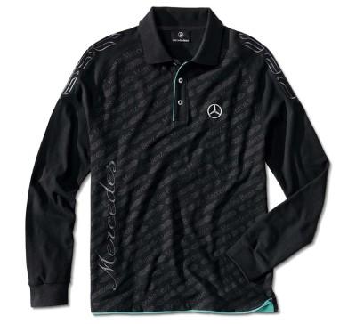 Мужская рубашка-поло Mercedes Men's Polo Shirt, Black
