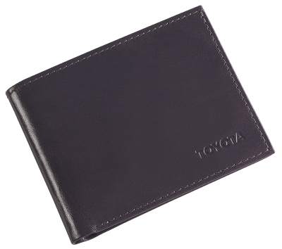 Кожаное портмоне Toyota Leather Wallet, Weekend, Grey