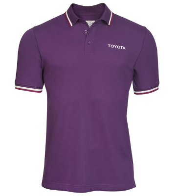 Мужская рубашка поло Toyota Men's Polo Shirt, Weekend, Purple