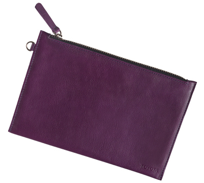 Кожаный клатч Toyota Leather Clutch, Weekend, Lilac