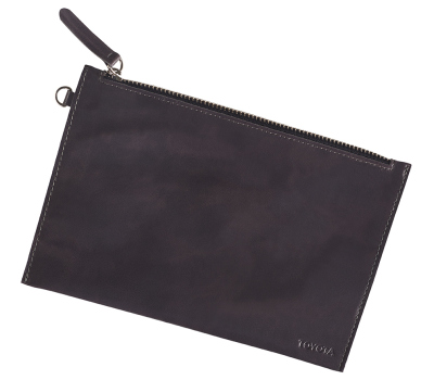Кожаный клатч Toyota Leather Clutch, Weekend, Grey