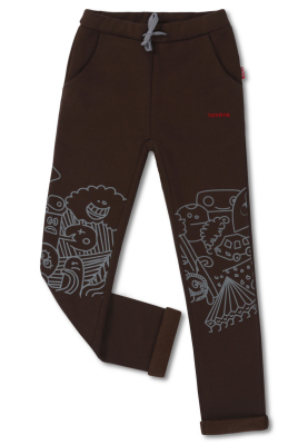 Детские штаны Toyota Kids Pants, Brown/Grey