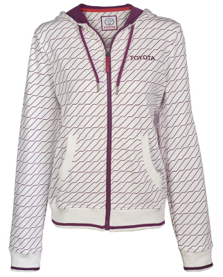 Женская толстовка Toyota Ladies Hoody, Weekend, White/Lilac