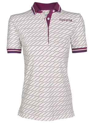 Женская рубашка поло Toyota Ladies Polo Shirt, Weekend, White/Lilac