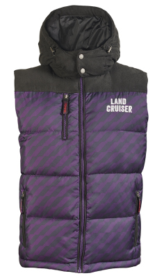 Мужской жилет Toyota Land Cruiser Men's Vest, Weekend, Black/Purple