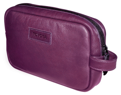 Кожаный несессер Toyota Leather Traveling Bag, Weekend, Lilac