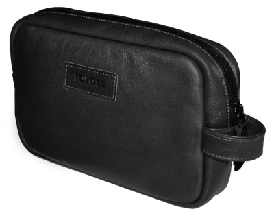 Кожаный несессер Toyota Leather Traveling Bag, Weekend, Black