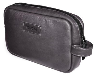 Кожаный несессер Toyota Leather Traveling Bag, Weekend, Grey