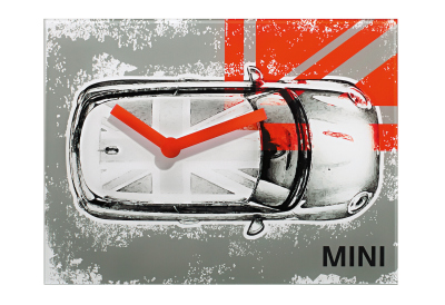 Настенные часы Mini Wallclock New MINI, Grey and Orange