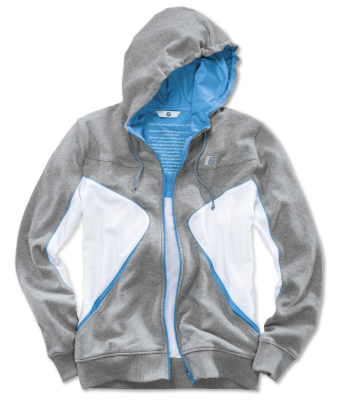 Толстовка унисекс BMW i Unisex Hooded Jacket, Grey/White/Blue