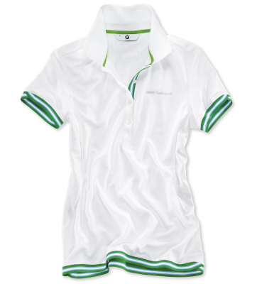 Женская рубашка-поло BMW Golfsport Polo Shirt, ladies, White/Green