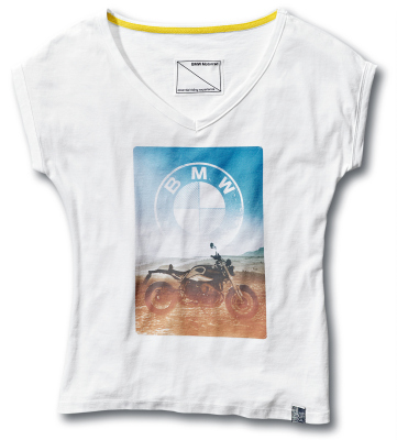 Женская футболка BMW Motorrad Roadster T-Shirt, Ladies, White