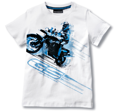 Детская футболка BMW Motorrad Kids T-Shirt, GS Adventure, White