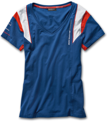 Женская футболка BMW Motorrad Motorsport T-Shirt, Ladies, Blue
