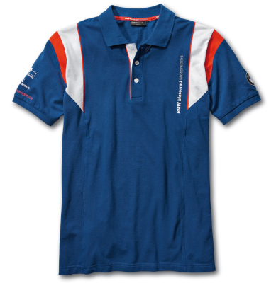 Мужская рубашка-поло BMW Motorrad Motorsport Polo-shirt, for Men, Blue