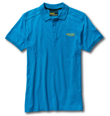 Мужская рубашка-поло BMW Motorrad GS Adventure Polo-shirt, for Men, Light Blue