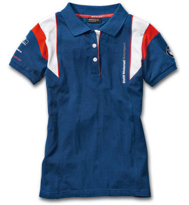 Женская рубашка-поло BMW Motorrad Motorsport Polo-shirt, for Ladies, Blue