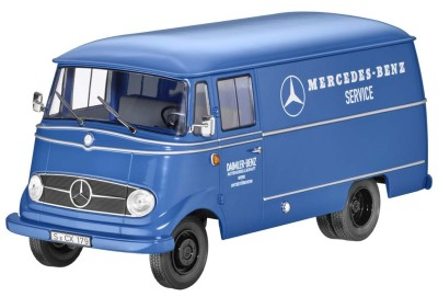 Модель Mercedes-Benz L319, Van, Mercedes-Benz Service, 1956-67, Blue, 1:18 Scale