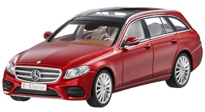Модель Mercedes-Benz E-Class Estate, AMG Line, Designo Hyacinth Red Metallic, Scale 1:43