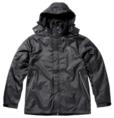 Мужская куртка-ветровка Mercedes Men's Cagoule, Water-repellent and Windproof, Black