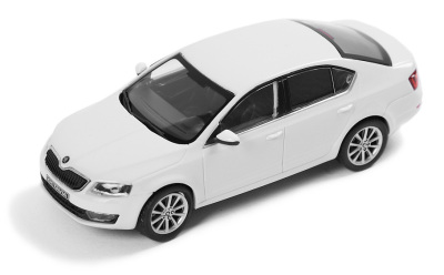Модель автомобиля Skoda Octavia A7, White Candy, Scale 1:43
