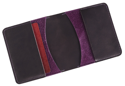Кожаное портмоне Toyota Leather Wallet, Weekend, Grey/Lilac