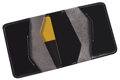 Кожаное портмоне Toyota Leather Wallet, Weekend, Black/Grey
