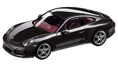 Модель автомобиля Porsche 911 Carrera 4 Coupé (991 II), Scale 1:43, Agate Grey Metallic