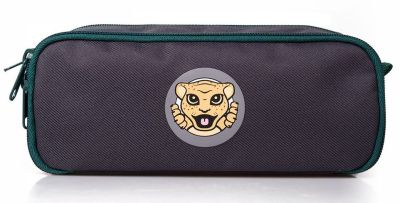 Детский пенал Jaguar Kids Pen Case, Grey/Green