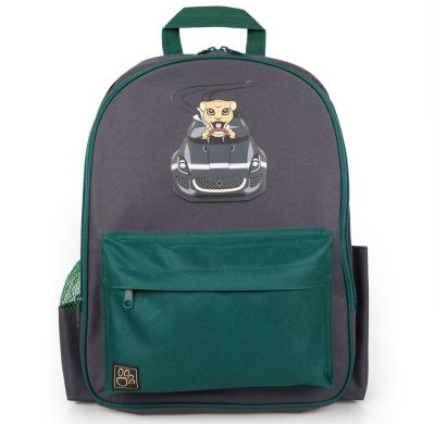 Детский рюкзак Jaguar Kids Backpack, Grey/Green