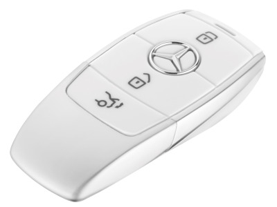 Флешка Mercedes-Benz USB Stick, Key Style, White/Silver, 8GB