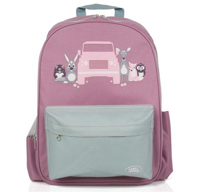 Рюкзак для девочек Land Rover Girl's Backpack, Pink/Grey