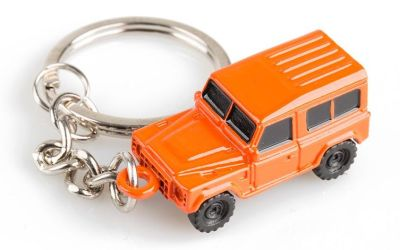 Стальной брелок Land Rover Defender Keyring, Orange