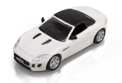 Модель автомобиля Jaguar F-Type Convertiblle, Scale Model 1:76, White