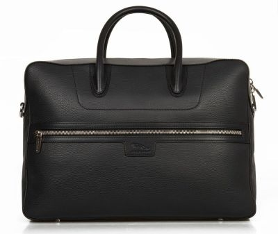 Кожаный портфель Jaguar Leather Brief Case, Black