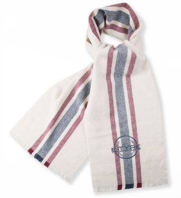 Мужской шарф Jaguar Heritage E-Type Scarf, Cream