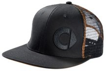 Бейсболка Smart Men's Flat Brim Cap, Black/Orange