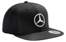 Мужская бейсболка Mercedes Men's Flat Brim Cap, Black