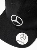Мужская бейсболка Mercedes Men's Flat Brim Cap, Black, артикул B66953170