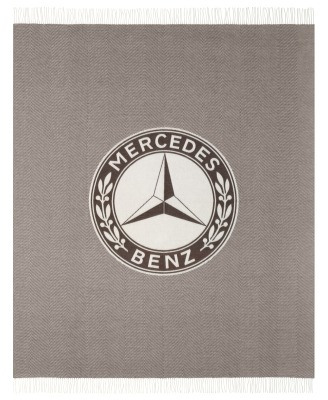 Плед Mercedes Blanket, Herringbone, Dark Brown / Off-white