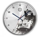 Настенные часы Mercedes-Benz Wall Clock, Classic, Silver/Blue/Red