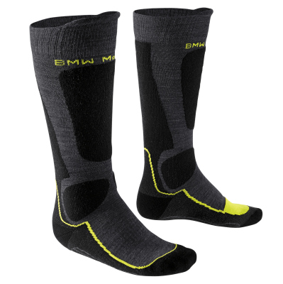 Термоноски BMW Motorrad Thermo functional sock, Anthracite/Yellow/Dark Gray