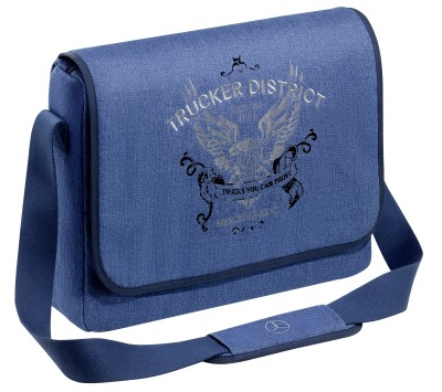 Сумка Mercedes-Benz Shoulder Bag, Trucker, Jeans Blue